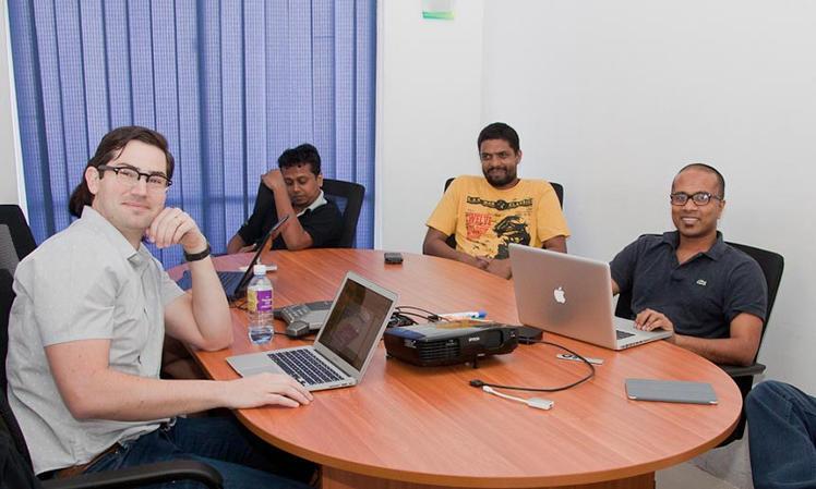 Left to right: Jason Roy, Chamindu Munasinghe, Asela Indika, Mangala Karunaratne
