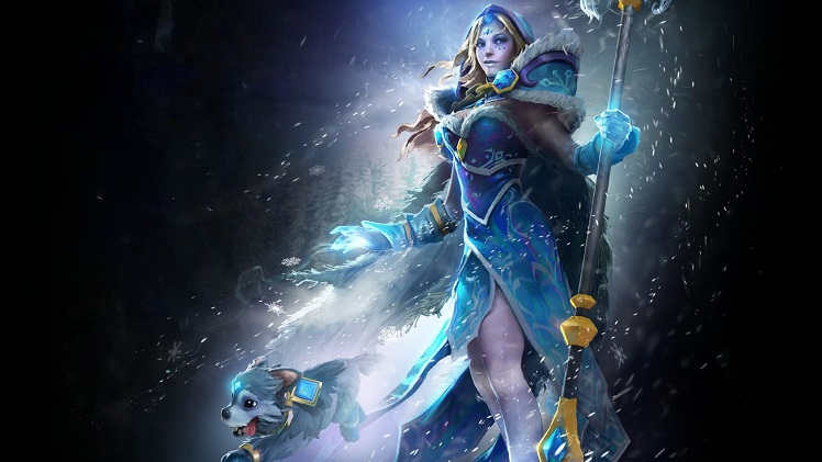 Crystal Maiden's Frost Avalanche Arcana set Image taken from YouTube